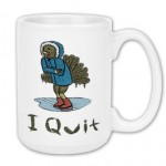 "The ""I Quit"" design on a mug"